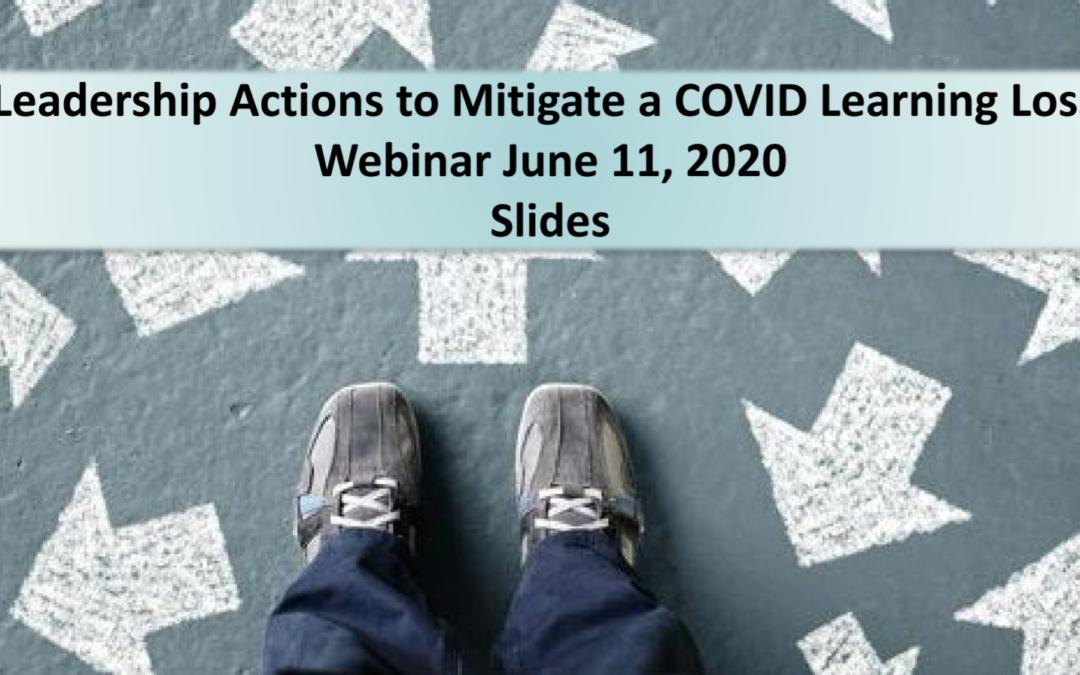 COVID Learning Loss Recovery Webinar